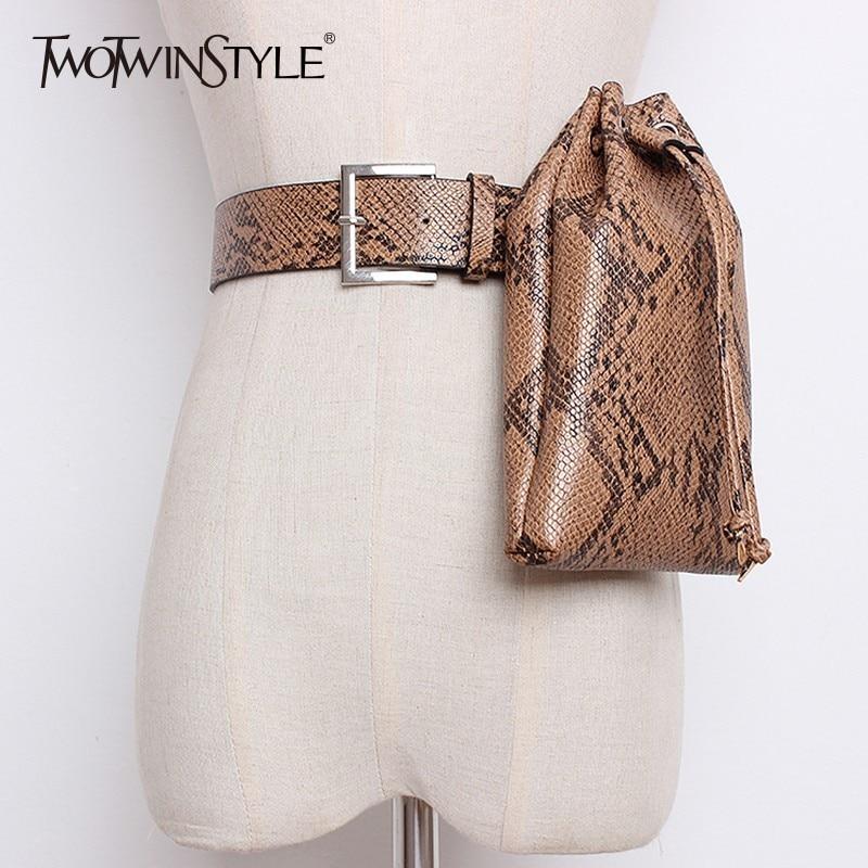 GALCAUR Print Waist Bag Women Adjustable PU Leather Fanny Pack Casual Fashion Mini Bucket Bags 2020 Autumn Accessories