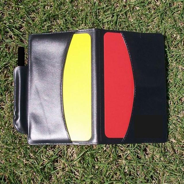 Football Referee Notebook With Pencil Red Yellow Card Football Accessories Referee Record Penalty Card Sports Supplies Notebook