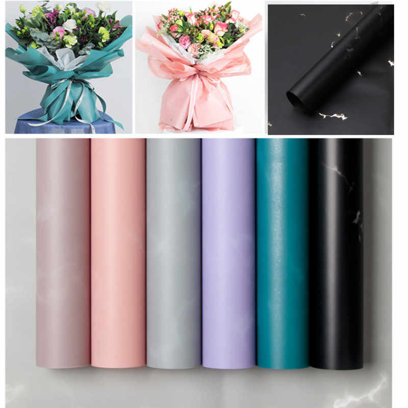 10pc Marbling Craft Paper Originality Wrapping Flower Waterproof Paper Floral Paper Packaging Gift Wrap Florist Gemstone Style