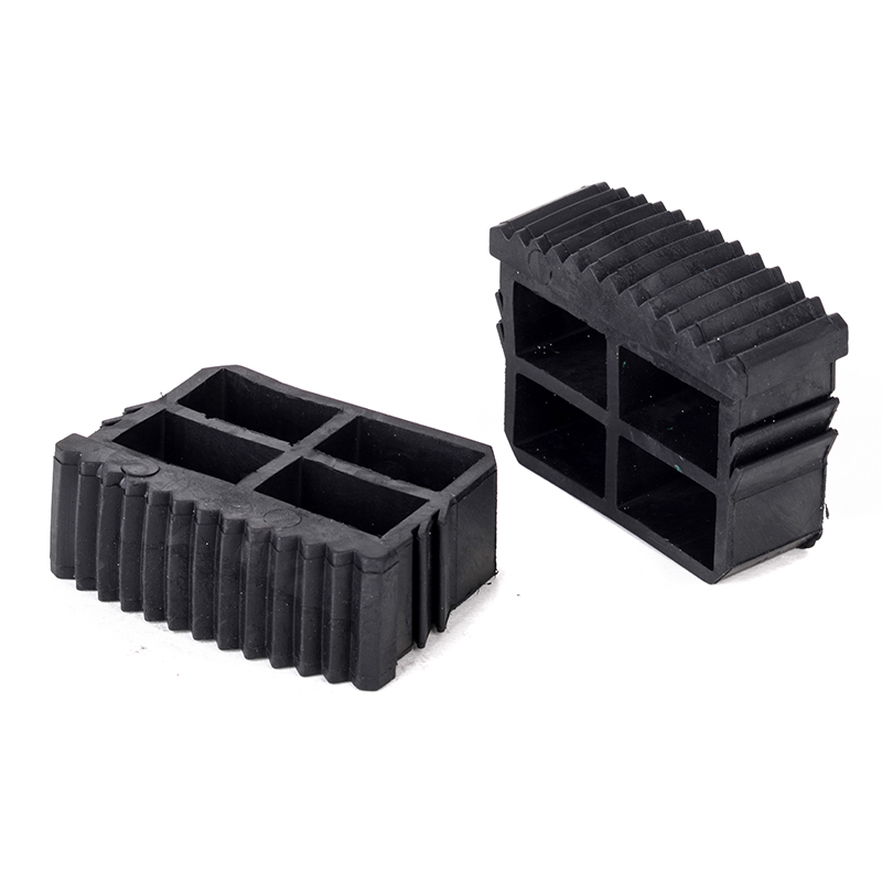 2pcs Black Rubber Inner Plug Foot Pad Replacement Step Ladder Feet Non Slip Ladder Grip Foot Accessories