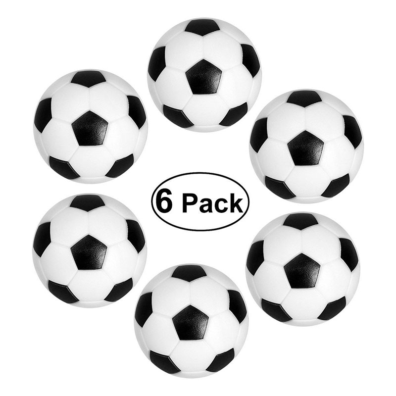 6pcs 32/36mm Table Football Balls Mini Foosball Table Foosball Kicker Ball Spare Balls Kicker Balls