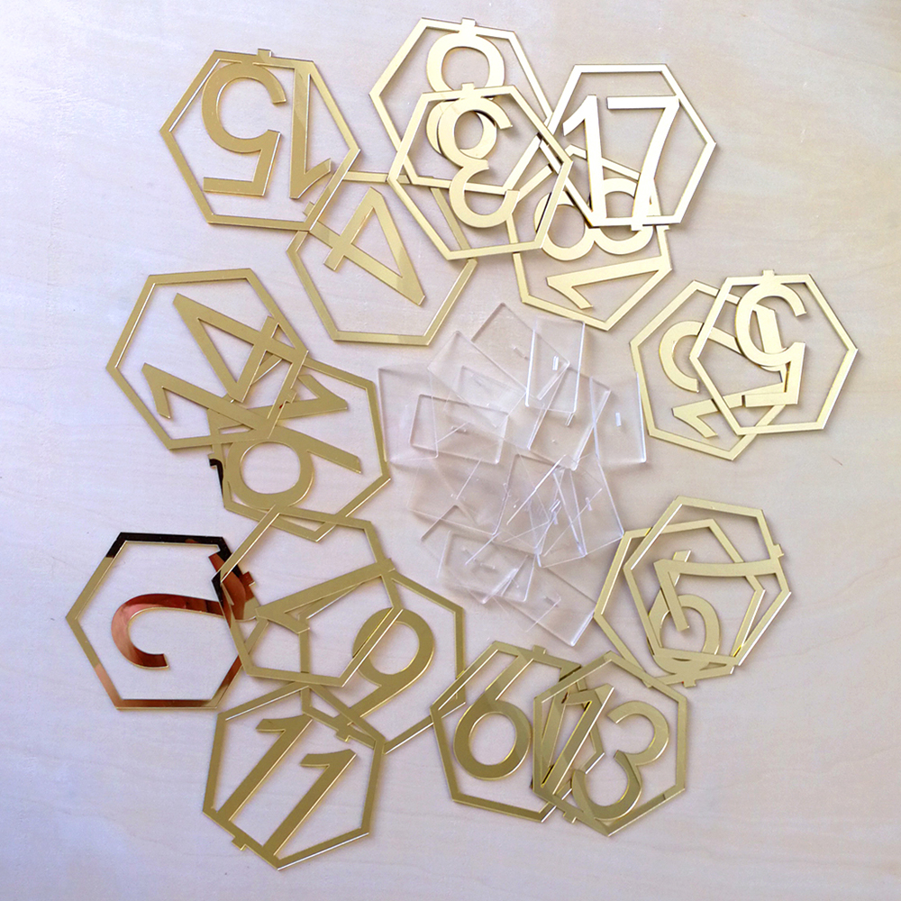 Useful 1 40 Numbers Hexagon Signs Acrylic Mirror Wedding Table Number Signs Table Numbers Rustic Wedding Seat Plate Numbers Sign
