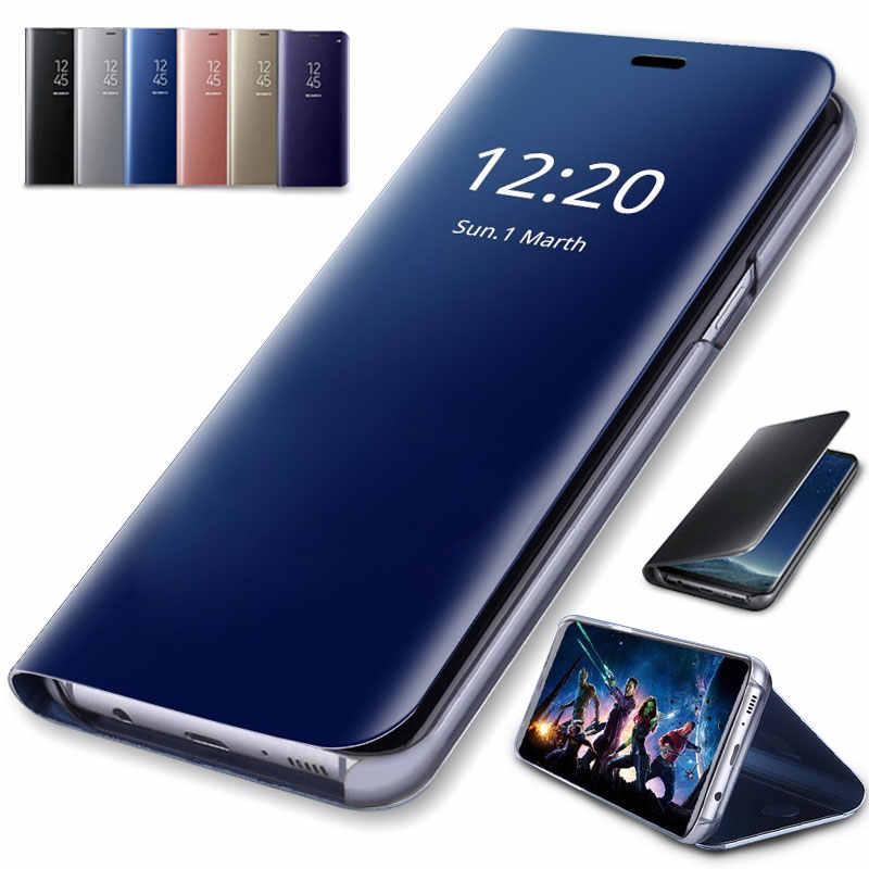 Умный зеркальный флип-чехол для телефона samsung Galaxy S8 S9 Note 9 8 A50 S7 Прозрачный чехол для samsung S7 S6 Edge Plus S9 S8 чехол