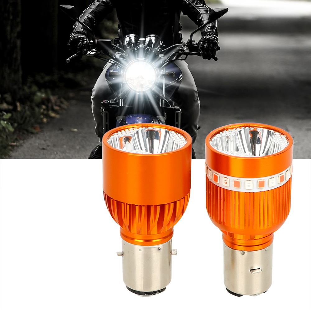 LEEPEE 1 piece Built-in Motorcycles Headlight 12-80V Moto Head Lamp LED Driving Light Motorbike Spotlight Strobe Fog Light