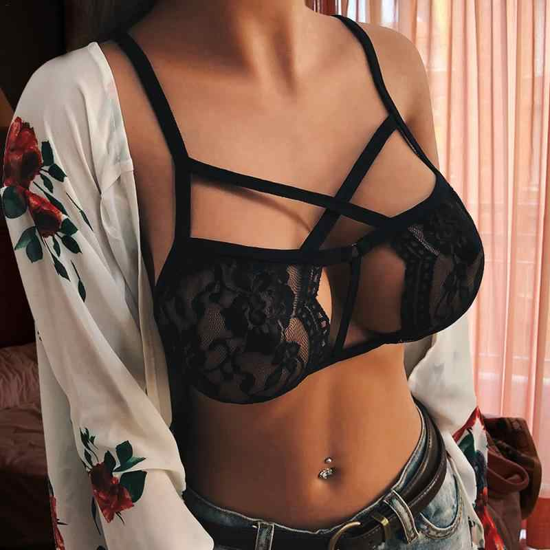 Women Summer Bra Temptation 3/4 Cup Hook-and- Eye Breathable Ultra-thin Bra Lingerie Underwear Ropa Interior Erotic Accessory
