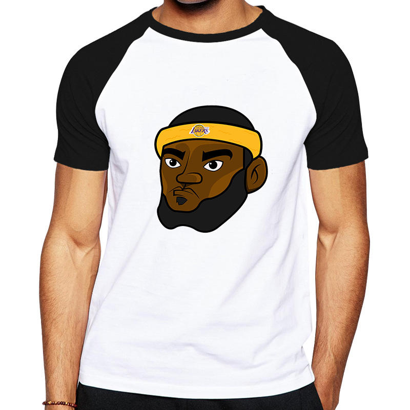 Cartoon Lebron James Lakers Jersey T-shirt Lakers James King Lebron T Shirt Los  Angeles T Shirt Casual Hip Hop Men Short Clothes 747569a85a153