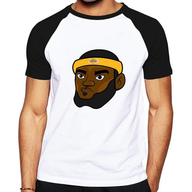 san francisco 207a0 210f2 Cartoon Lebron James Lakers Jersey T shirt Lakers James King ...