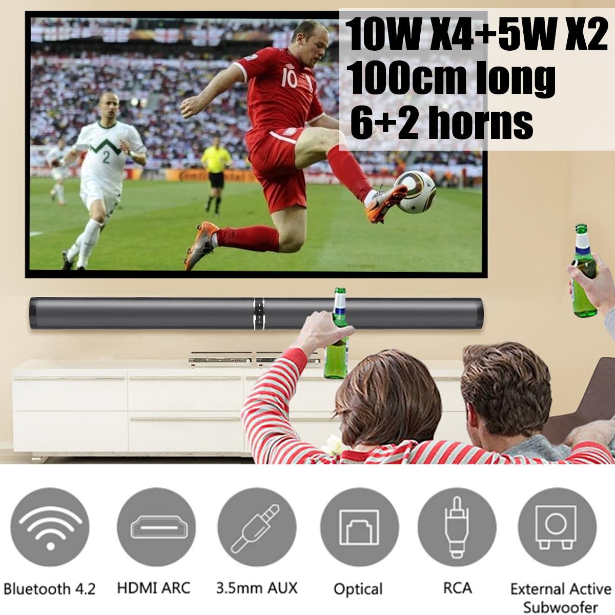 Bluetooth TV Barre De Son Haut-Parleur Sans Fil Haut-Parleur Soundbar 3D Surround Stéréo Subwoofer pour TV Home Cinéma Remote Control Du Système