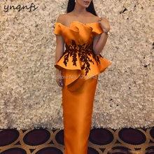 Женское платье с оборками ynqnfs оранжевое длинное открытыми