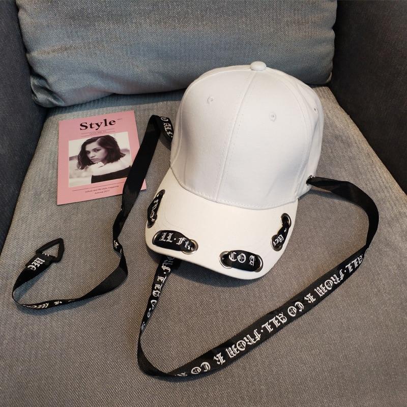 2018 Summer Letters Long Strap Bandage Visor Hat Ribbon Streamer Women's Cap Baseball Hip Hop Men's Hat Fashion Visors 4