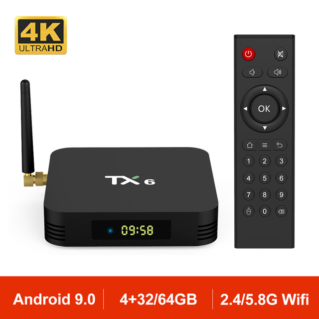 US $28 07 28% OFF|Android 9 0 TX6 Smart TV BOX Allwinner H6 Quad core 4G  32G BT 4 1 USB 3 0 2 4G 5G Dual WiFi 4K Set Top Box PK H96 HK1 X96 MAX-in