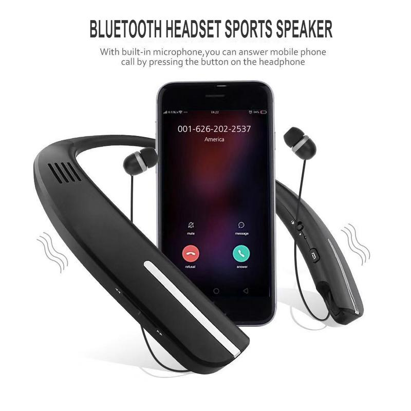 NEW Earphones Bluetooth Headphone Neck Halter Style Earbuds Earphone Hands free Calling For IPhone Xs Max Xr X 8 7