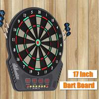 Electronic LED Scoring Display with 6 Tip Darts Darts Board Set Shot Glass Alcohol Drink Game Roulette Target Darts Home Toys