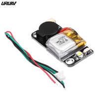 URUAV UR6 5V 110dB BB Alarm Buzzer Mini Tacker 36x18mm & Lipo Battery LED Light For RC Models Spare Part DIY Accessories