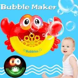 Детский пузырьковый чайник Краб игрушка для ванной пластик Электрический мультфильм легкая музыка забавная стиральная игрушка