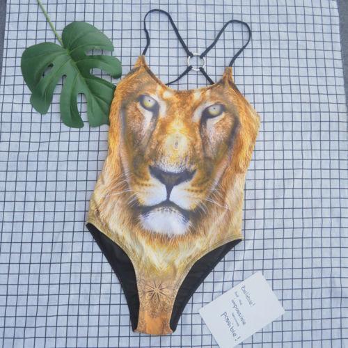Cordiale Sexy Delle Donne Di Nuoto Del Leopardo 3d Stampa Costume Da Bagno Di Un Pezzo Del Bikini Monokini Body E Tutine Sentirsi A Proprio Agio