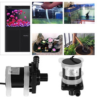 1200MA DC 24V Solar Powered Brushless Magnetic Submersible Water Pump 900L/H Fish Pond Smooth Operation Black 22W ABS Stainless