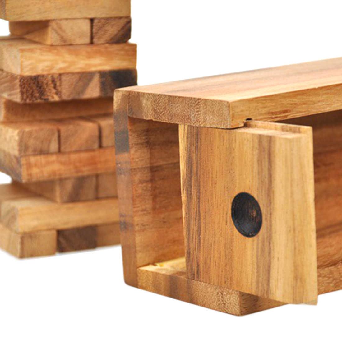 Zabawki dla dzieci drewniane ułożone warstwy klocki do budowy prezent wieża blok stos zabawki do gier na impreza dla dorosłych Bar zestawy rozrywkowe