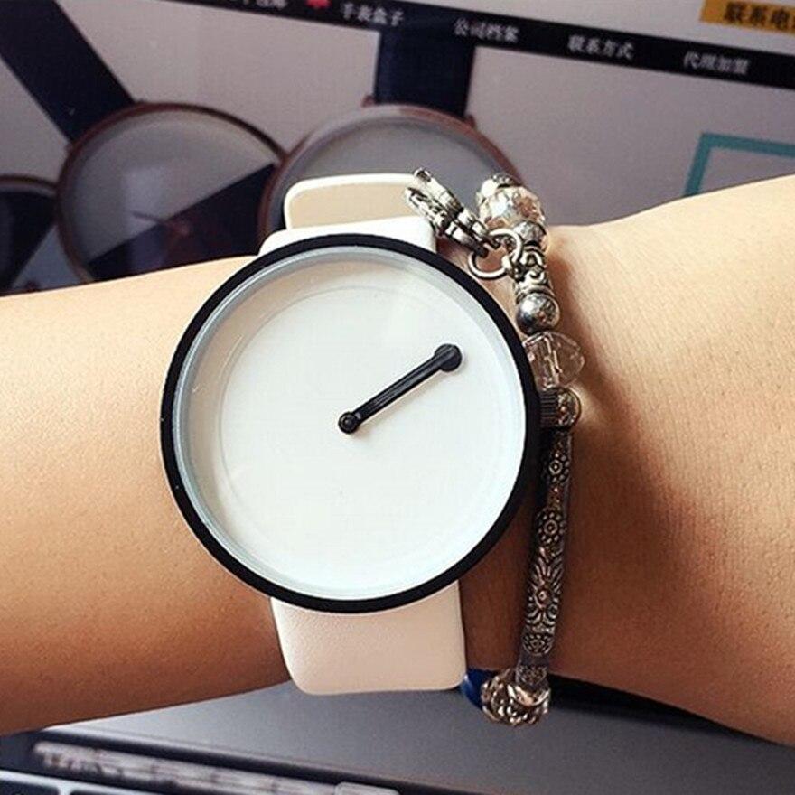 2018 Minimalist style creative women wristwatches black & white new design Dot and Line simple stylish quartz fashion watches 1