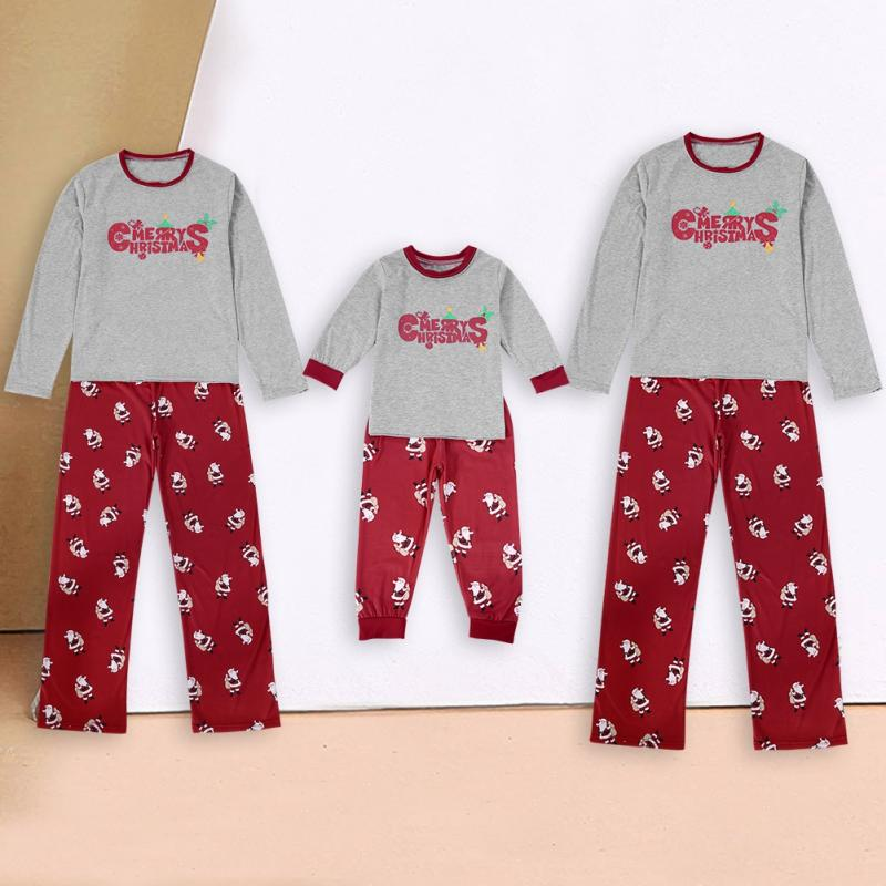 Christmas Family Matching Pajamas Sets Adult Women Baby Kids Nightwear Sleepwear