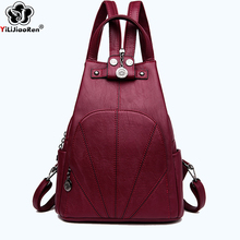 Fashion Thrend Backpack Female Brand Leather Backpack Women Large Capacity Bookbag Simple Shoulder Bags for Women 2019 Mochila