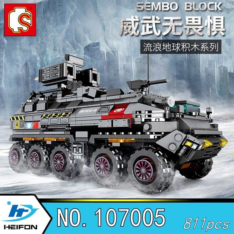 The Wandering Earth CN171 Troop carrier Military Series Building Blocks Bricks Model toys Sembo 107005