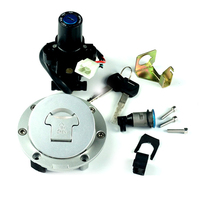 Motorcycle 4 Line Plug Ignition Switch Fuel Gas Cap Cover Tank Lock Set with 2 Keys For Honda CBR1000RR 04 07 CBR600RR