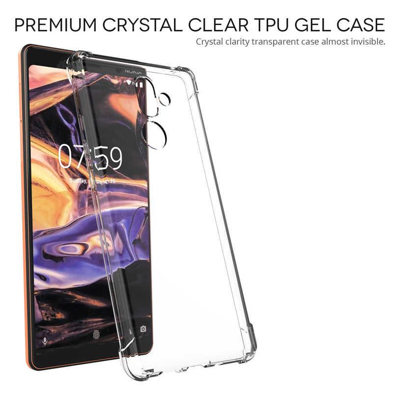 Chống Sốc Cho Nokia 2 3 5 6 7 8 TPU Ốp Lưng Điện Thoại Dành Cho Nokia 6 2018 2.1 3.1 5.1 6.1 7.1 7 Plus Dual Slim Full Cover Ca