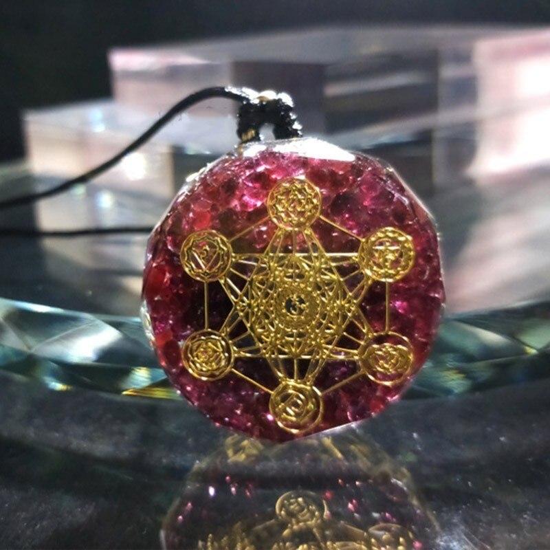 Orgonite énergie cristal pendentif Aura Chakra résine bijoux artisanat pendentif rassemblement richesse apporte bonne chance femme collier