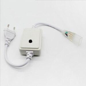 Image 3 - 13 30メートル複列のrgb ledストリップ96leds/m 5050 220vカラーチェンジライトテープIP67防水ledロープライト + ir bluetooth制御