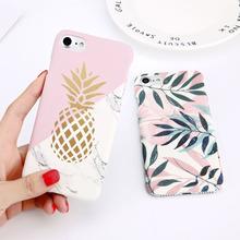 Moskado Flower Leaf Hard PC Case For iPhone X XS Max 7 8 Plus Marble Pineapple Geometric Cover 5 5s SE 6 6s XR