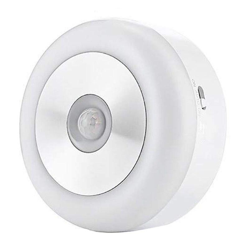 Motion Sensor Light Cordless Battery-Powered Smart Sensor Led Night Light Auto On/Off Stick For Cabinet Closet Stairs Bathroom