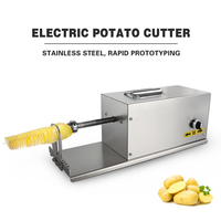 ITOP Commercial Electric Spiral Potato Slicer With Counter Vegetable Fruit Cutter DIY Twisted Potato Cutter Machine