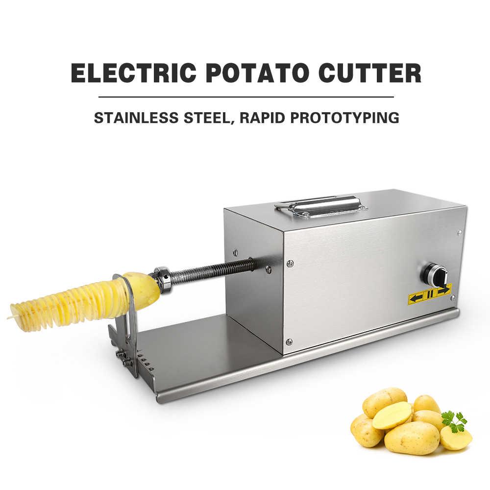 ITOP коммерческий Электрический спиральный картофель слайсер с счетчик устройство резки овощей и фруктов DIY витая машина для производства картофеля
