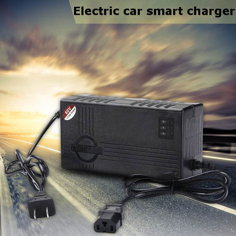 60V 20AH Electric Bicycle Charger Lead Acid Battery Charger Adapter Smart Charging 2.5A For Electric Car Bicycle Bike Scooters