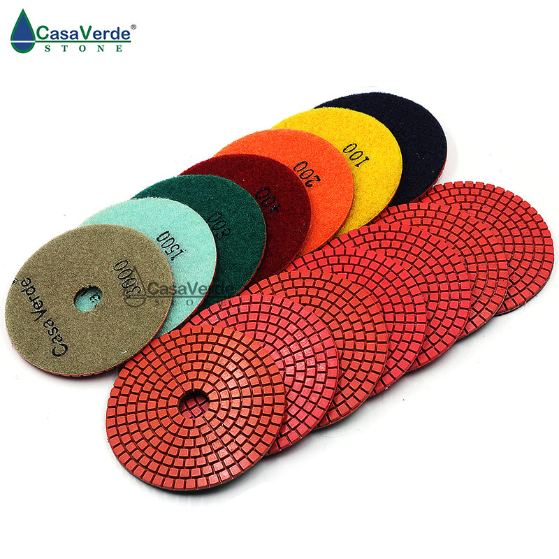 """Free Shipping DC-LRPP02 Wet 4""""(100mm) With 2.5mm Wet Diamond Polishing Pads For Granite And Marble"""