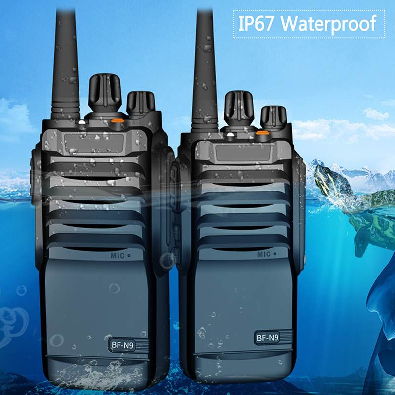 8W IP67 Waterproof Walkie Talkie FM Radio UHF 400-520MHz Two Way Radio 15KM Communicator Range Powerful Portable Waterproof