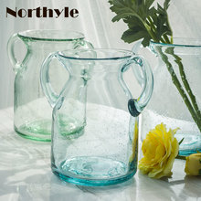 Dream house DH VS152363 amphorae sky blue glass vase floor vases home decoration floral clear bottle wedding