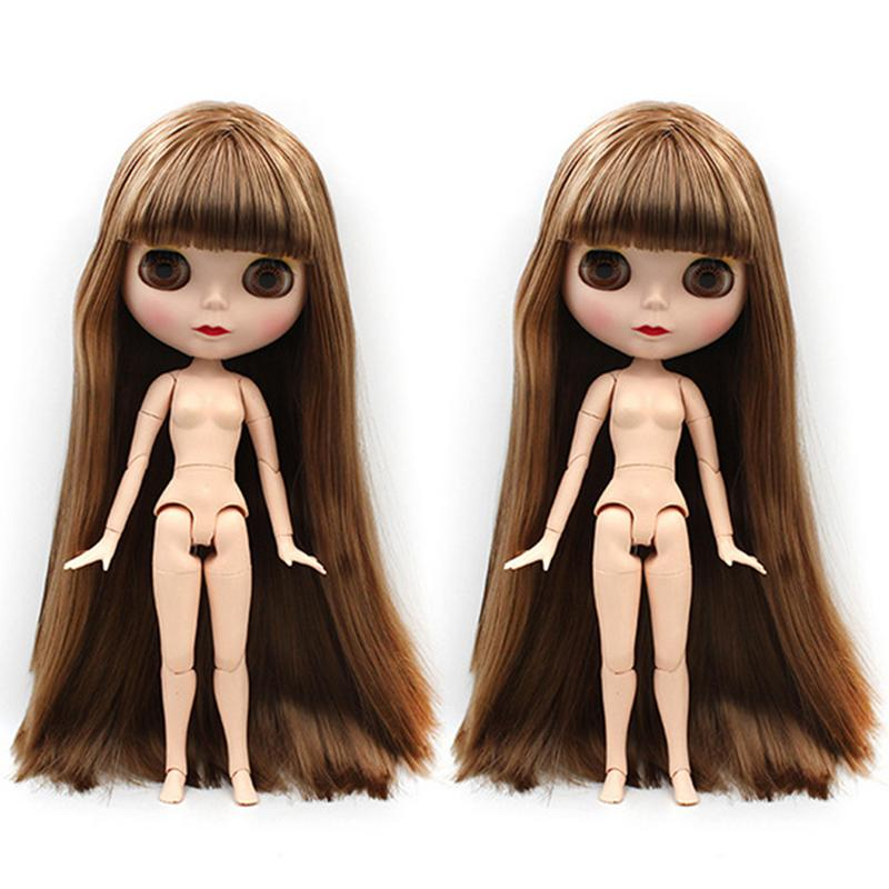 30cm Baby Doll Toys Joint Body with Colorful Straight Curls Hair DIY Nude Toys Fashion Dolls Girl Gift for Children Baby Girl30cm Baby Doll Toys Joint Body with Colorful Straight Curls Hair DIY Nude Toys Fashion Dolls Girl Gift for Children Baby Girl