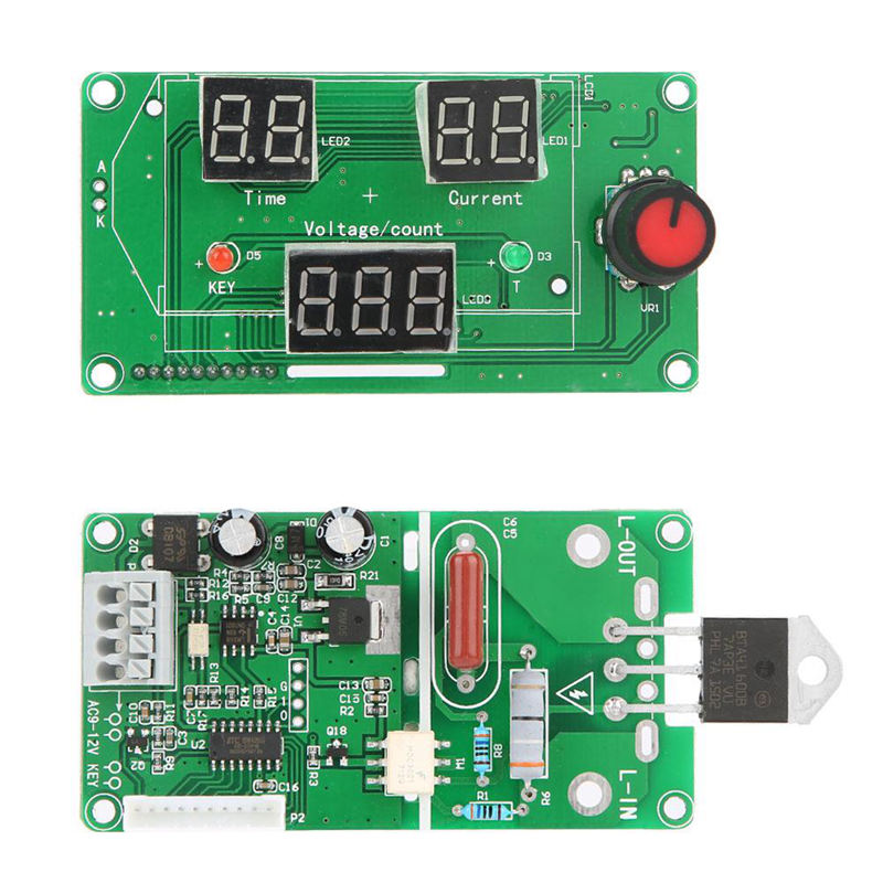 40A Lcd Display Digital Double Pulse Encoder Spot Welder Welding Machine Transformer Controller Board Time Control