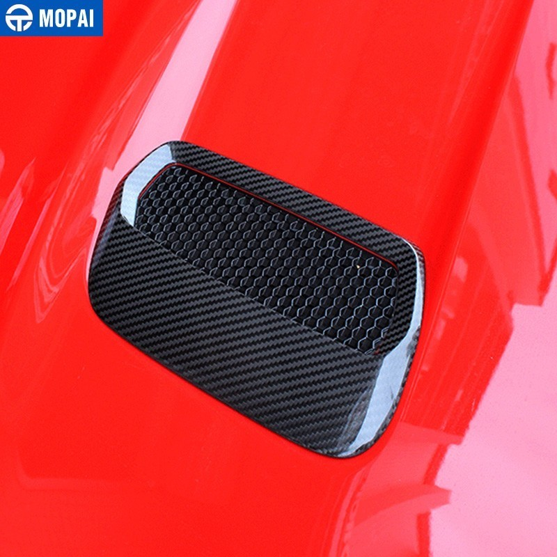 Image 4 - MOPAI Car Stickers for Ford Mustang 2018+ Carbon fiber Hood Engine Cover Air Outlet Decoration for Ford Mustang Car Accessories-in Car Stickers from Automobiles & Motorcycles