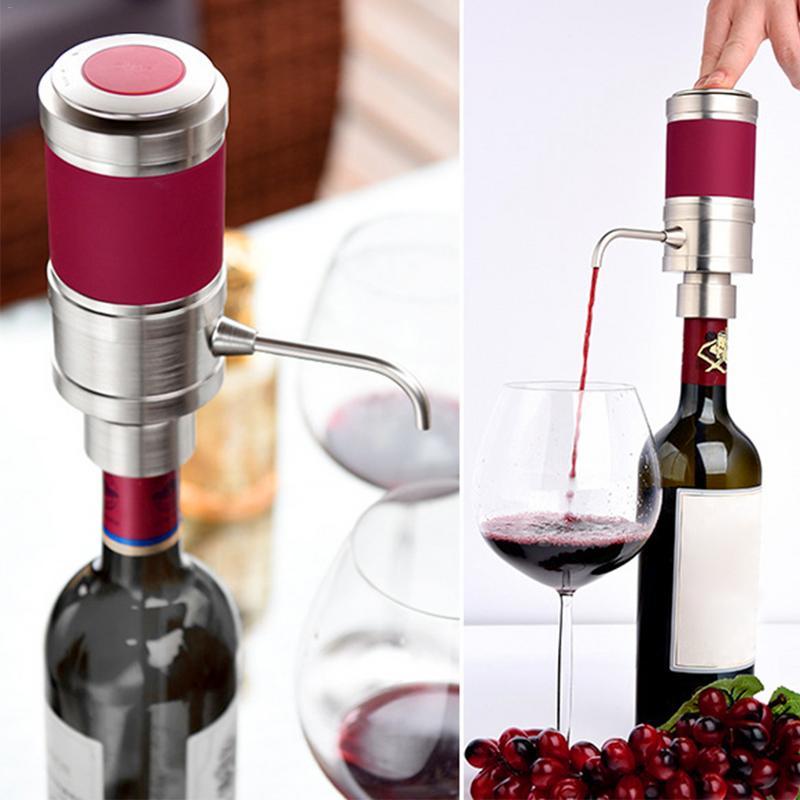 อิเล็กทรอนิกส์ใหม่ขวดเหล้าไวน์แดง Appliance ขวดเหล้าไวน์ Pourer Bar WineTools Dispel ผลกระทบของแอลกอฮอล์จัดส่งได้ทันที-ใน ขวดเหล้า จาก บ้านและสวน บน   1