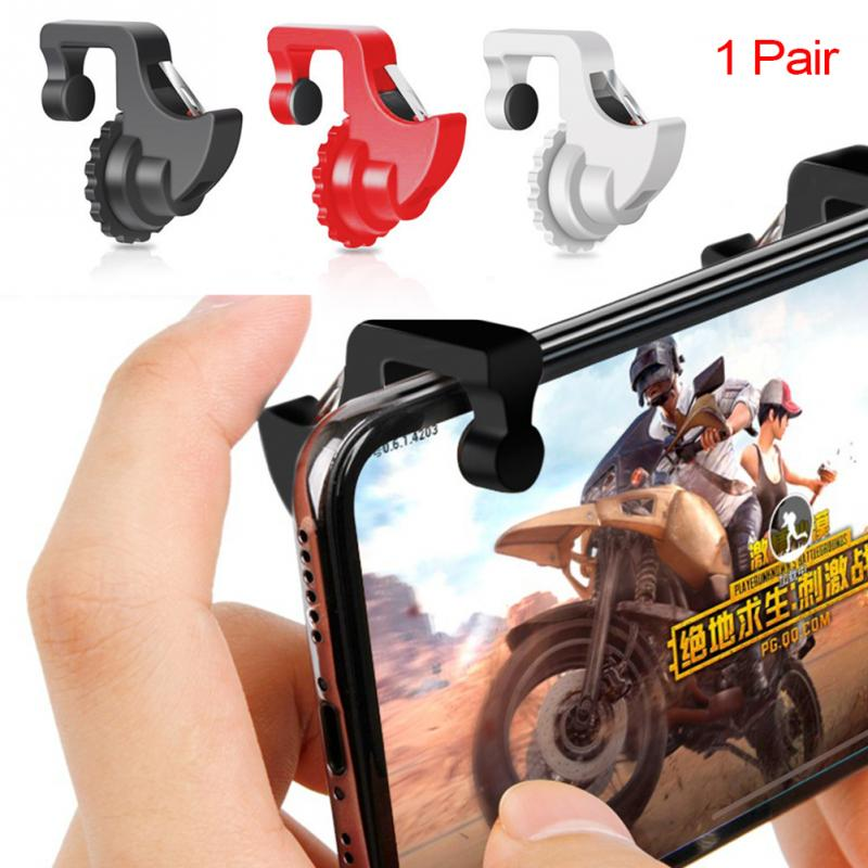 1Pair L1 R1 Gaming Trigger Smart Phone Games <font><b>Shooter</b></font> Controller Fire Button Handle For PUBG/Rules of Survival/Knives Out image