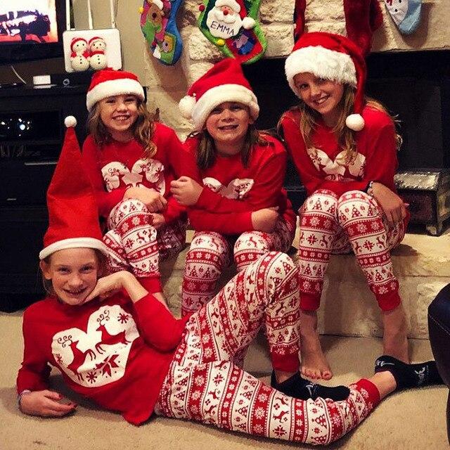 Navidad Familia Pijamas Set Navidad Familia Matching Ropa Conjunto