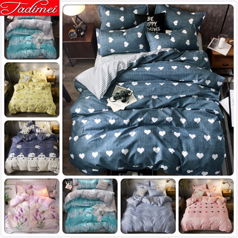 Adult Kids Child Soft Cotton Duvet Cover 3/4 Pcs Bedding Set Single Queen King Size Bed Linen 150x200 180x220 200x230 220x240 Cm
