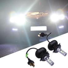 2 Pcs Auto LED Fari Auto Anteriore Del Faro Della Lampadina H4 50 W Bianco Auto-styling Automobili Luce Della Lampada Della Testa diodo a emissione Luminosa di Illuminazione