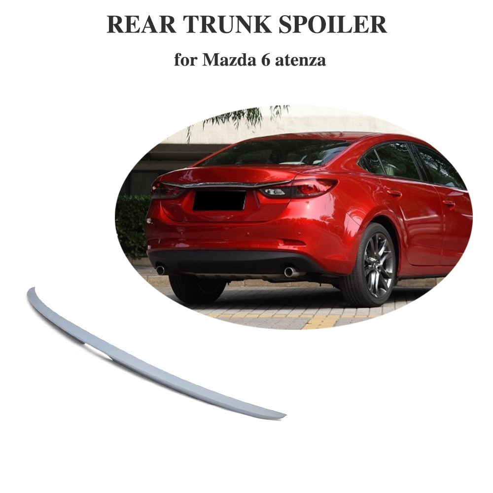 For <font><b>Mazda</b></font> <font><b>6</b></font> Atenza 2014 2015 2016 ABS Rear Trunk <font><b>Spoiler</b></font> Ready for Painting image