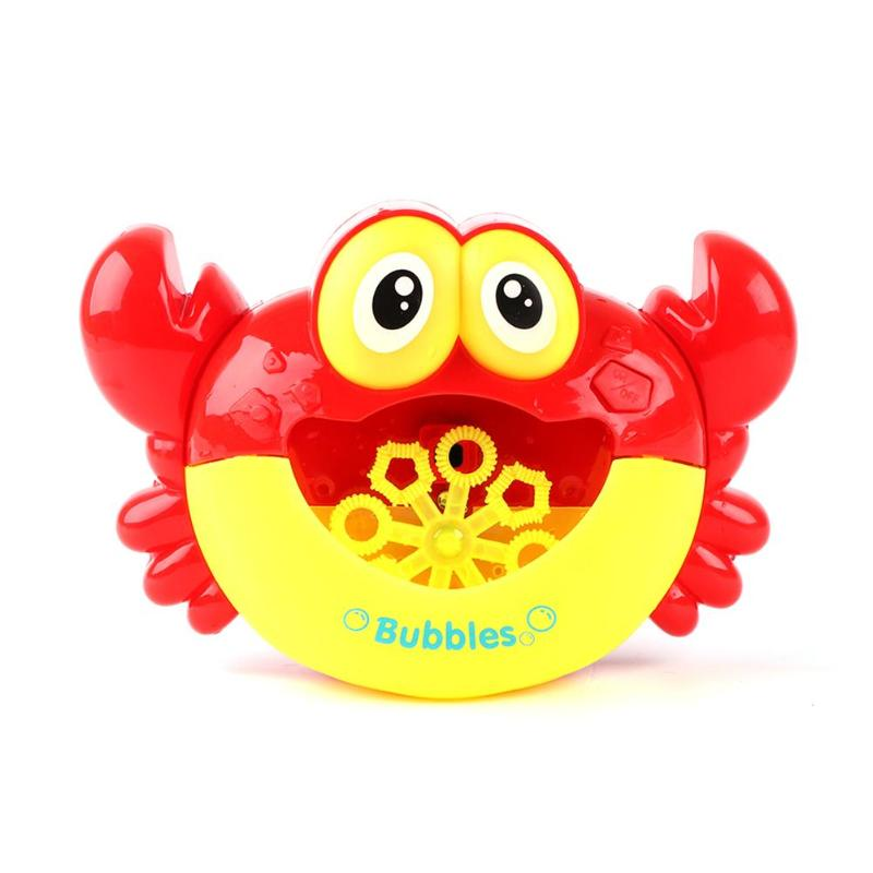Electric Crab Bubble Machine Bathtub Bubble Maker Light Music Baby Bath Toy Funny Music Crab Bath Outdoor Christmas GiftsBlower