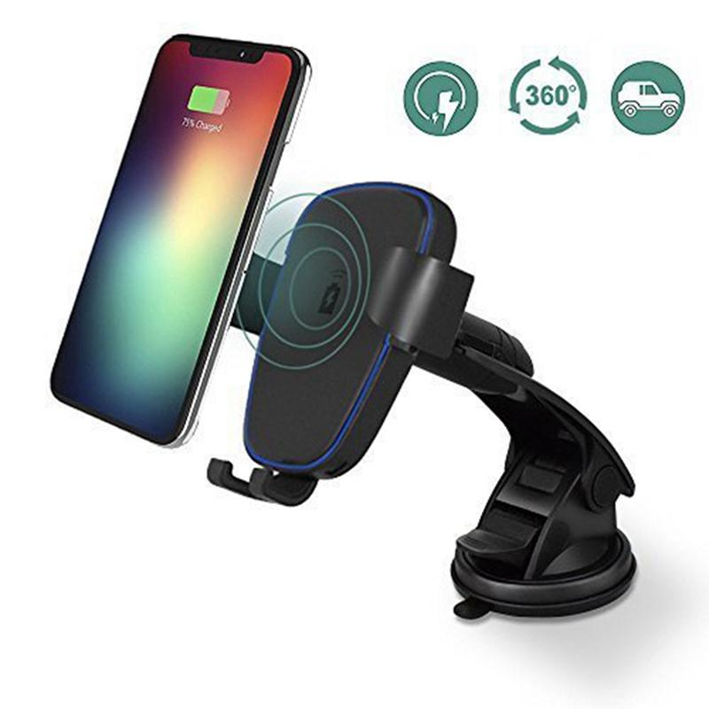 Hot Qi Wireless Charger Fast Car Mount Wireless Charging Holder 10W Fast For Samsung s6 s7 s8 s8plus note 5 iPhone 8 X XS MAX XRHot Qi Wireless Charger Fast Car Mount Wireless Charging Holder 10W Fast For Samsung s6 s7 s8 s8plus note 5 iPhone 8 X XS MAX XR