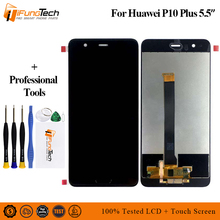For Huawei P10 Plus LCD Display Touch Screen Digitizer Assembly For Huawei P10 LCD P10 PLUS Display With Frame P10P Replacement p10 two sides led display screen red color for text with size w71 x h23cm